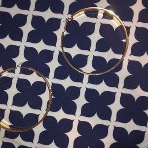 Sliver and gold hoop earrings